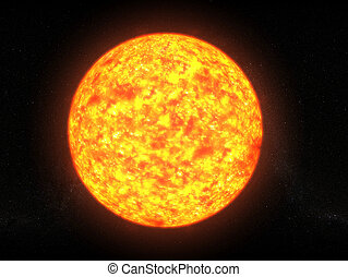 sun - 3d rendered illustration of the glowing sun