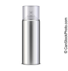 Aluminum spray can - Blank aluminum spray can template, 3d...