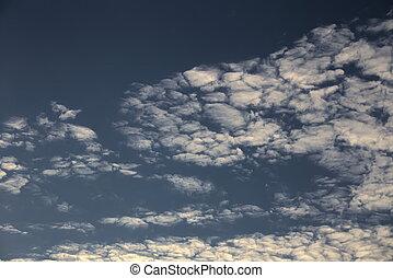 Altocumulus - Cloudscape and blue sky.