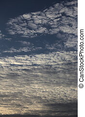 Altocumulus - Cloudscape and blue sky.