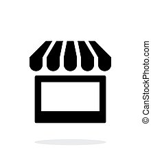 Kiosk icon on white background. Vector illustration.