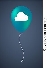 Vector balloon icon with a cloud