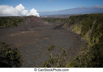 Volcano National Park, Hawaii - kilauea crater in volcano...