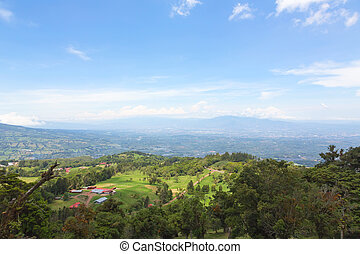 Hills and mountains in Costa Rica - Panoramic view of the...