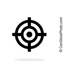Crosshair icon on white background Vector illustration