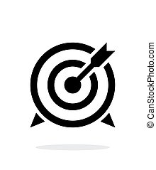 Target with arrow icon on white background Vector...