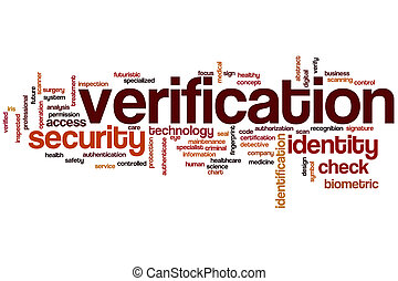 Verification word cloud concept