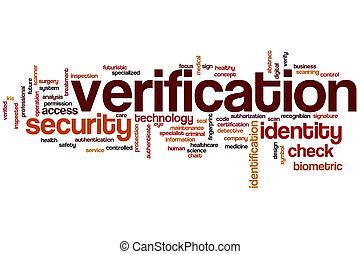 Verification word cloud concept