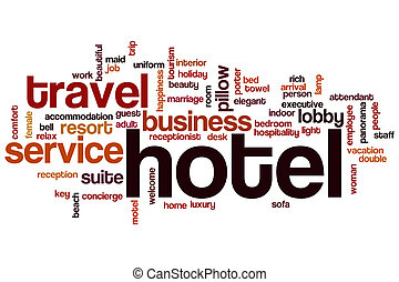 Hotel word cloud concept