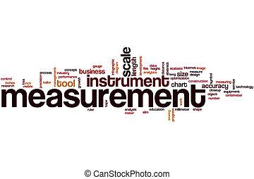 Measurement word cloud concept