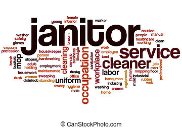 Janitor word cloud concept