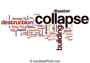 Collapse word cloud concept