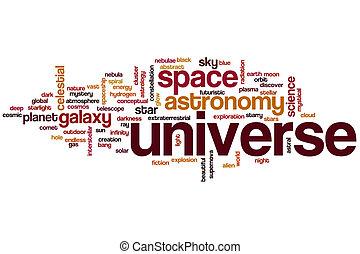 Universe word cloud concept