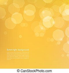 Abstract background with yellow gold glow bokeh - glowing...