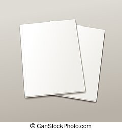 Blank empty magazine or book template  on a gray background. vector