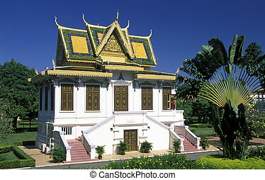 CAMBODIA PHNOM PENH - the king palace in the city of phnom...