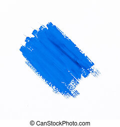 stroke blue paint brush color water watercolor isolated on...