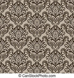 Seamless beige and brown wallpaper pattern.