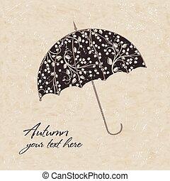 Vector illustration of umbrellas.