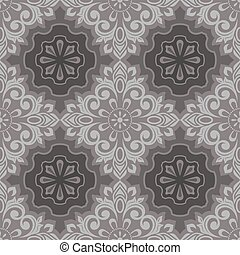 Seamless vintage floral wallpaper vector pattern.