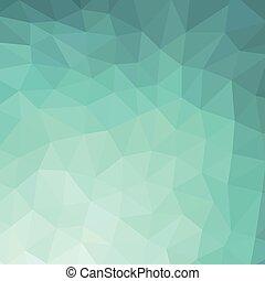 背景, ......的, 綠松石, rhombus.,