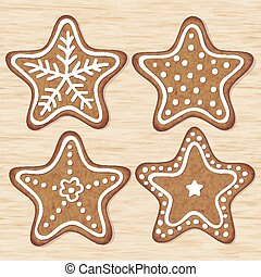 Christmas cookies - Decorative Christmas cookies on the...