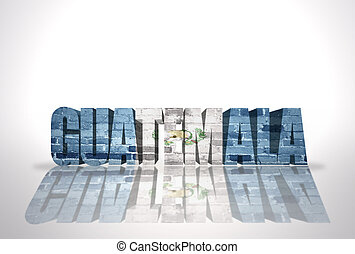 Word Guatemala on the white background - Word Guatemala with...