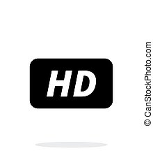 High definition icon on white background. Vector...