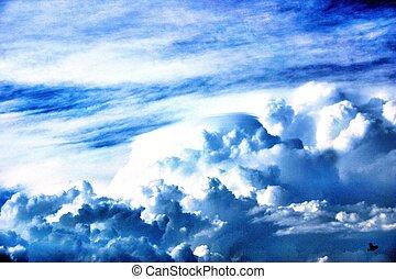 Skyscape - A skyscape in blue