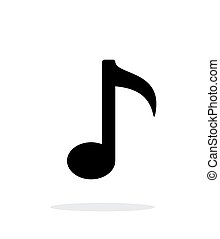 Musical note icon on white background. Vector illustration.