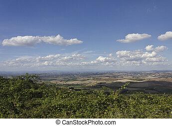 Amazing Tuscany landscape - Montalcino, Italy: Amazing...