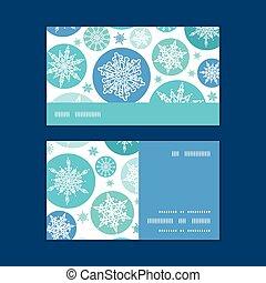 Vector round snowflakes Christmas snowflake silhouette...