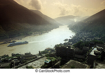 ASIA CHINA YANGZI RIVER - the landscape of the yangzee river...