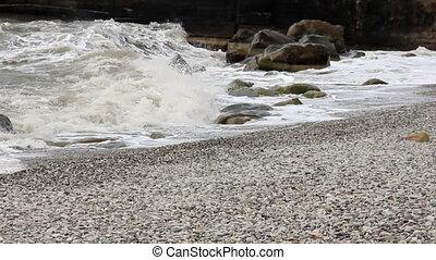 Foam waves surf