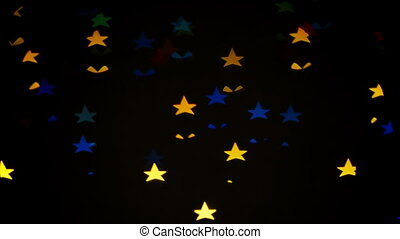 Colorful defocused blinking stars