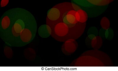 Blinking particles - Colorful defocused blinking bokeh...