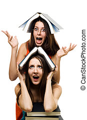 Two woman just accepted to university - Two crazy shocked...