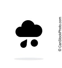 Rain with hail weather icon on white background. Vector...