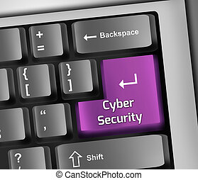 Keyboard Illustration Cyber Security - Keyboard Illustration...