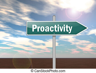 Signpost Proactivity - Signpost with Proactivity wording