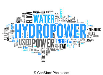 Word Cloud Hydropower - Word Cloud with Hydropower related...