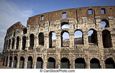 Flavian Amphitheatre - Famous Colosseum or Coliseum, also...