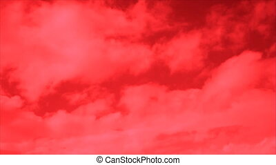 Anxiety red sky clouds - Red clouds at red sky