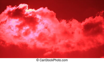 Red cloud sunlit beauty veil clouds
