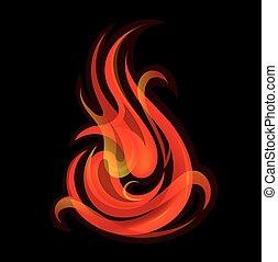 fuoco, fiamme,