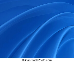 Radial blue surface - Folded wavy digital surface -...