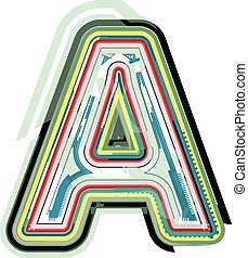 Abstract colorful Letter A