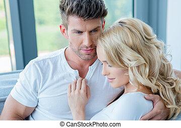 Romantic Young White Couple