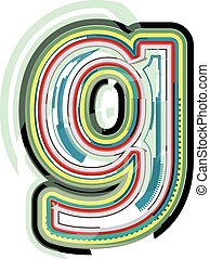 Abstract colorful Letter g