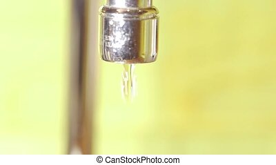 Tap water from faucet - Water coming from kitchen faucet